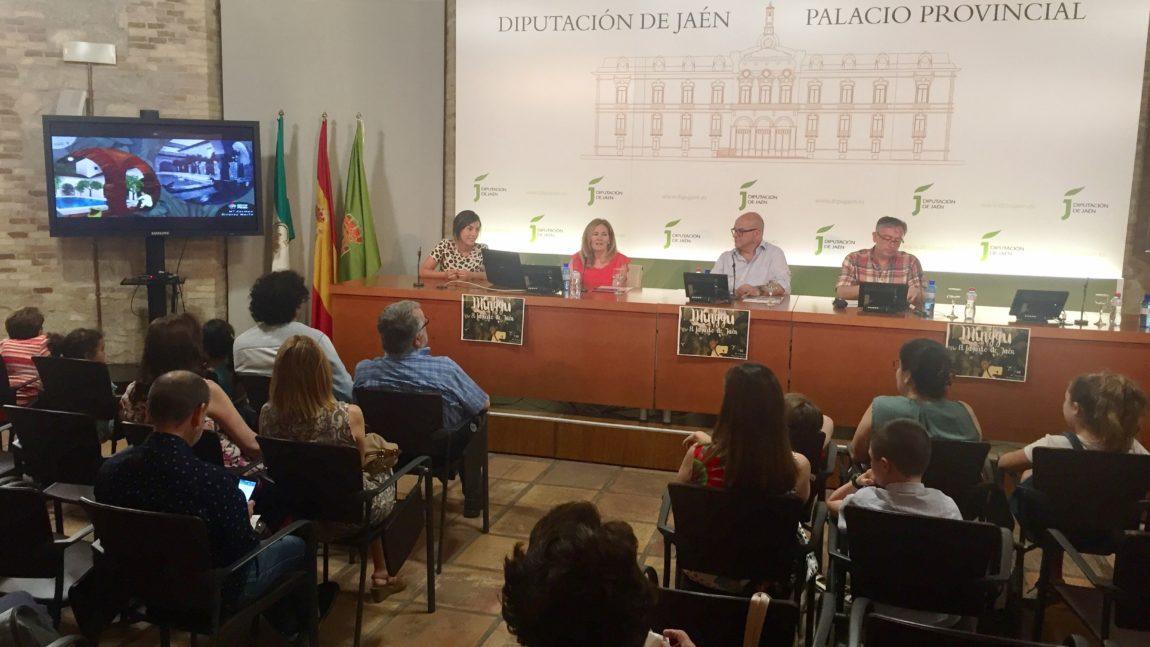 Presentación de Minggu en los actos del Lagarto de Jaén 2018.